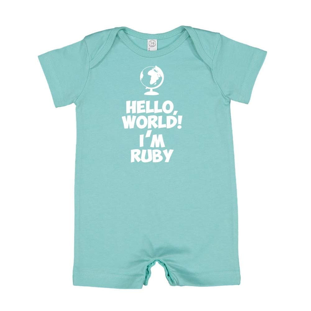 Mashed Clothing Hello Im Ruby World Personalized Name Baby Romper