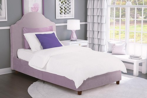 DHP Savannah Upholstered Bed, Twin, Lilac