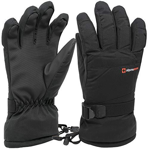 Alpine Swiss Mens Waterproof Gauntlet Ski Gloves Winter Sport Snowboarding Windproof Warm 3M Thinsulate