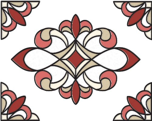 (Brewster SG0311 10.5-Inch-by-7.7-Inch Westwood Stained Glass Applique)