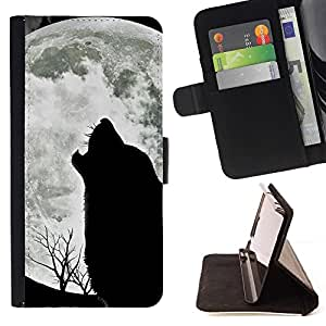 For HTC DESIRE 816 Wolf Hauling Moon Wild Trees Nature Animal Beautiful Print Wallet Leather Case Cover With Credit Card Slots And Stand Function