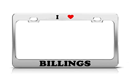 Amazon com: YYHTXGW I Heart Billings Montana Metal Auto