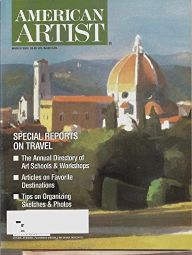 American Artist Magazine March 2000: The Annual Directory of Art Schools and Workshops, Tips on Organizing Sketches and Photos