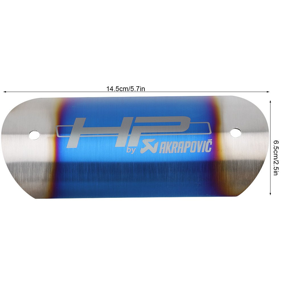 de Keeno; protector de tubo de calor Protector de tubo de escape universal de acero inoxidable para motocicleta