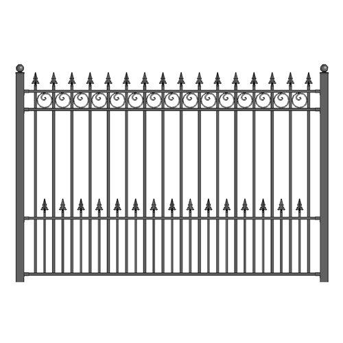 ALEKO Prague Style Iron Wrought Steel Fence 8' X 5' Ornamental Fence