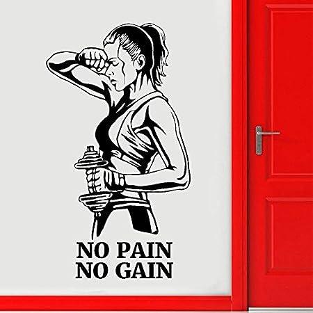 ziweipp Gym Tatuajes de Pared Sin Dolor Sin Ganancia Fitness Vinyl ...