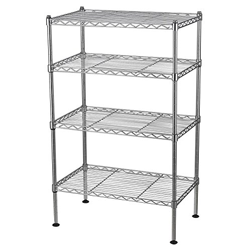 4-Shelf Light Duty Chrome Wire Shelving Unit (20