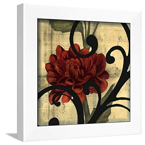 ArtEdge Dahlias and Scrolls I by Jennifer Goldberger, White