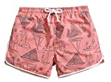 KM Couple's Beach Shorts/Surf Shorts With Pocket Quick Dry Casual#Pink (Female M)