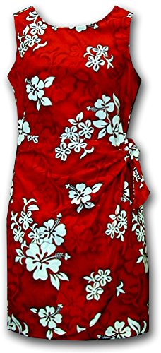 e Hibiscus Sarong Dress Red M 313-3156 (Hibiscus Sarong Dress)