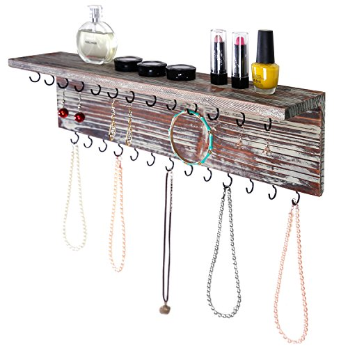 2-tier-contemporary-rustic-torched-wood-wall-mounted-jewelry-necklace-display-rack-w-storage-shelf