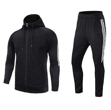 Man Train Gym Jogging Sport TrackSuit Suit Sets Sweats Jacket Pants Trousers