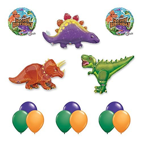 The Ultimate 14 pc Giant Dinosaur Birthday Balloon Kit Dinosaur Party Balloon