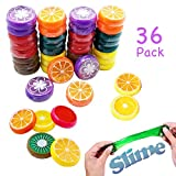 fruits party - Simple Joy Party Supplies Magic Crystal Fruit Slime Putty Non-Toxic Toy for Kids (36 Party Pack) - Smaller sized perfect for party favors