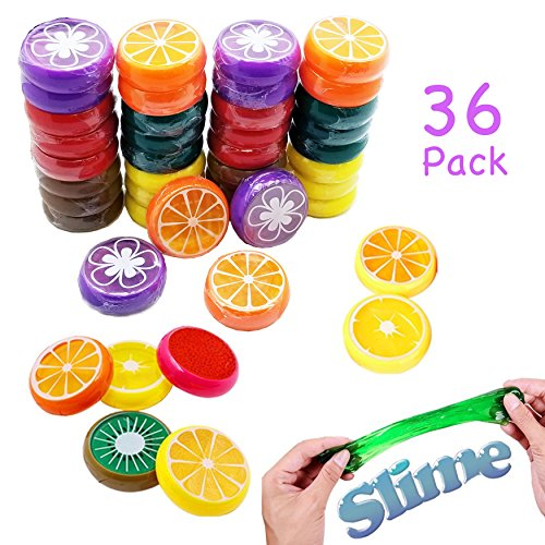 Simple Joy Party Supplies Magic Crystal Fruit Slime Putty Non-Toxic Toy for Kids (36 Party Pack) - Smaller sized perfect for party favors Joy Carpets Games