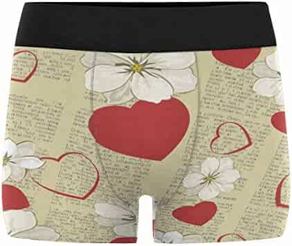 XS-3XL INTERESTPRINT Mens Boxer Briefs Underwear Patterned Elephant on The Floral