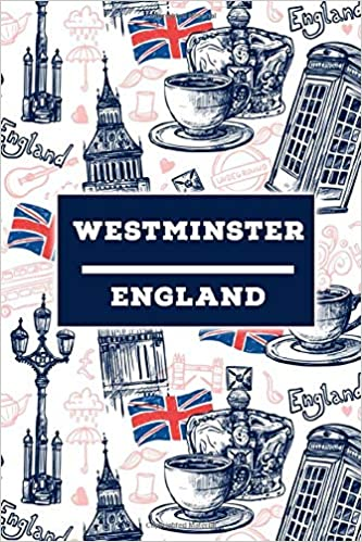 Westminster England Lined Travel Journal Cute United Kingdom