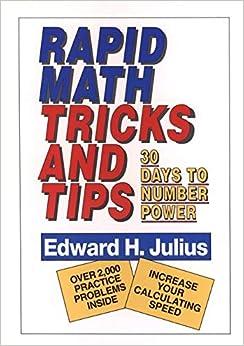 Rapid Math Tricks & Tips: 30 Days to Number Power: Edward H. Julius: 9780471575634: Amazon.com: Books