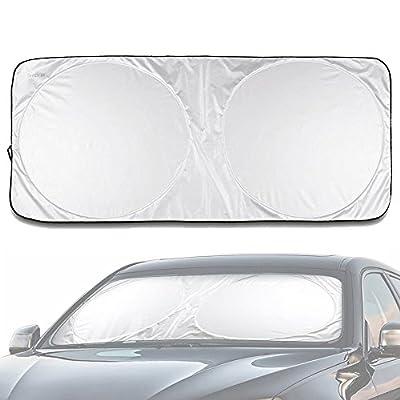 Car Windowshield Visor,DiDaDi Folding Silvering Reflective Car Window Sun Shade Visor Shield Cover