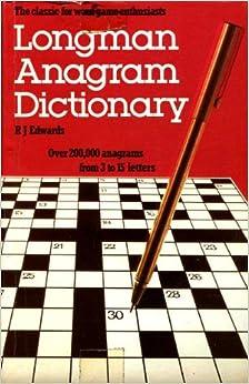 Book Longman Anagram Dictionary