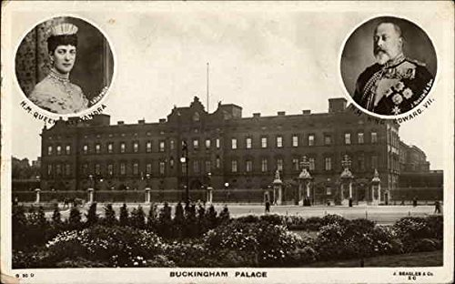 King Edward VII and Queen Alexandra - Buckingham Palace Royalty Original Vintage Postcard from CardCow Vintage Postcards