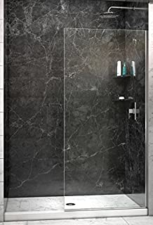 Celesta series sr910 fixed glass bathtub shower screen 24 x 76 width frameless shower door 38 glass planetlyrics Image collections