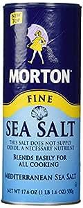 Morton Fine Mediterranean Sea Salt 17.6 oz.