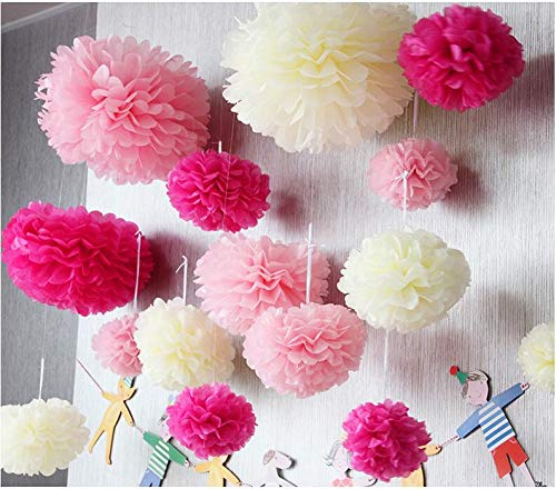 Party DIY Decorations - 16inch 40cm 5pcs Lot Party Decorations Tissue Paper Pompom Flowers Balls Baby Shower Decor - Coco Frozen Clouds Crowns Supplies Train Station Year Patrol Green Surpri