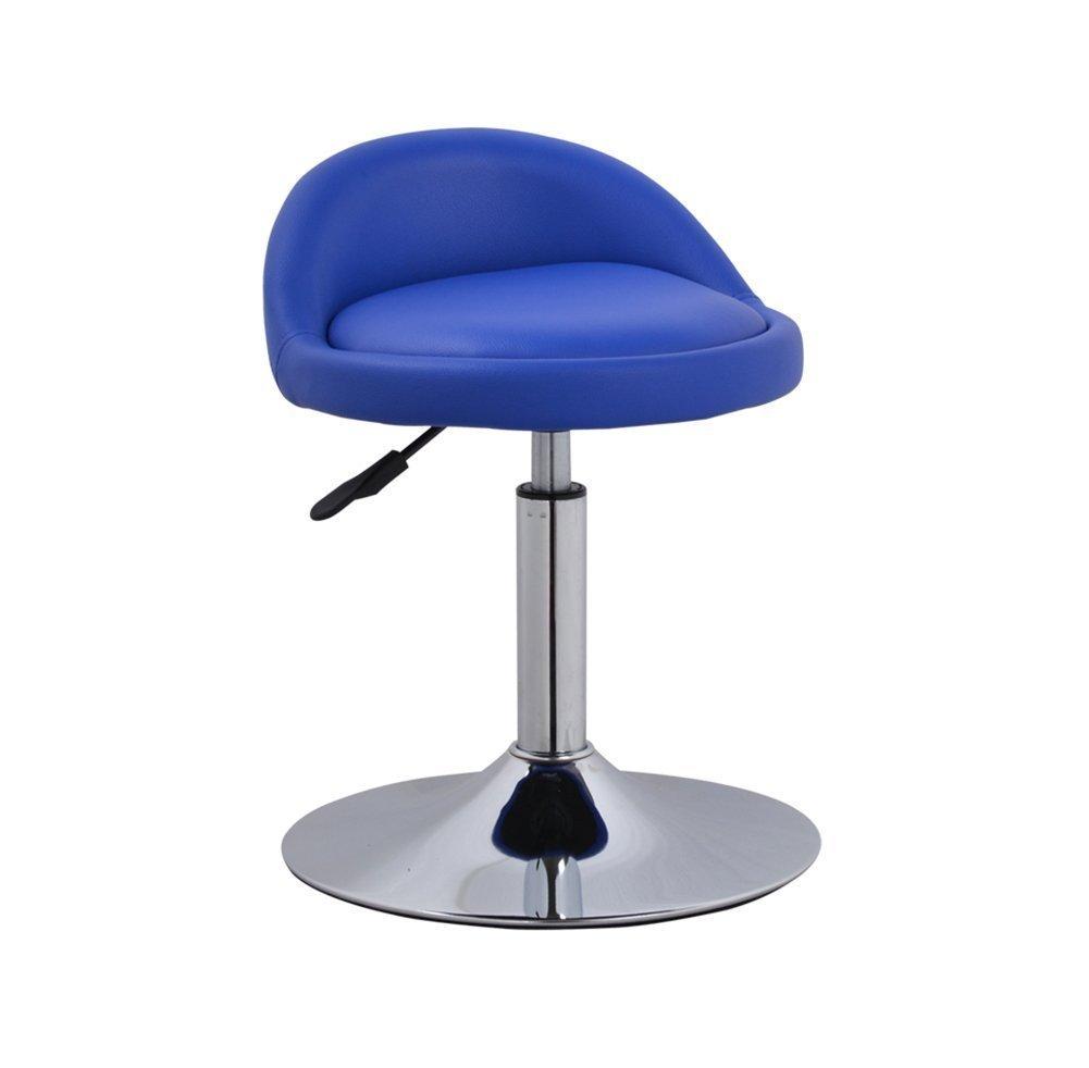 チェア バーチェアモダンミニマリストリフトチェアスイベルチェアバーチェアシートバースツール調節可能スイベルガスリフト、シート (色 : 青) B07DX9FVL4青