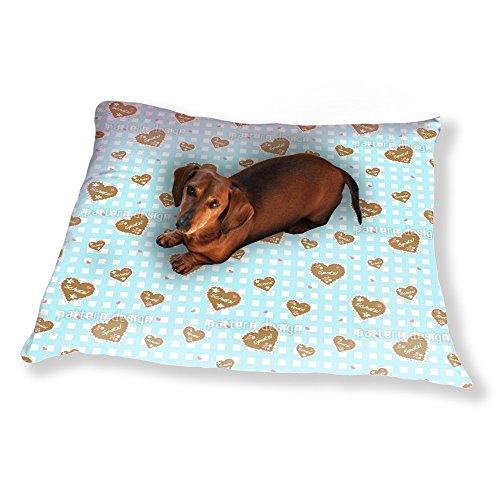Oktoberfest Hearts Dog Pillow Luxury Dog / Cat Pet Bed