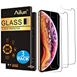 Ailun Compatible with Apple iPhone Xs and iPhone X Screen Protector 3 Pack 5.8inches Display Tempered Glass 2.5D Edge Advanced HD Clarity Work Most Case