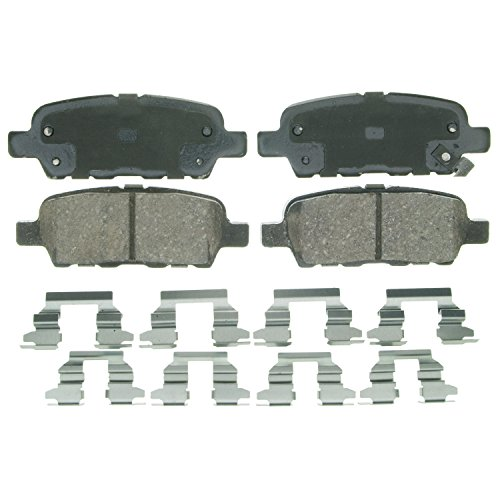Wagner QuickStop ZD905 Ceramic Disc Pad Set Includes Pad Installation Hardware, Rear ()