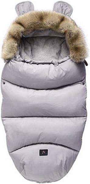 Chronstyle Baby Schlafsack Für Kinderwagen Kutsche Kinderwagen Fußsack Warmer Winter Wickelumschlag Für Neugeborene Baby Kokon Grau 100 X 46 Cm Bekleidung