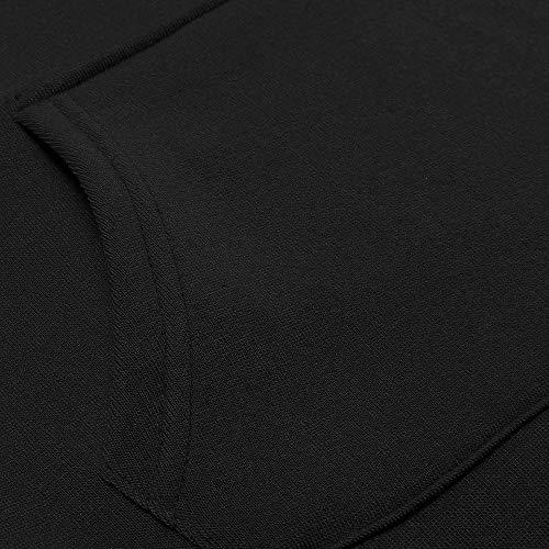 Abito Solido Patchwork Lungo Styledresser Collo Donna Sweatershirt Da Nero Casuale Donna Cappuccio Lungo Vestito O Lungo 4xfxwd