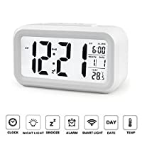YOHAPP Digital Alarm Clock Low Light Sen...