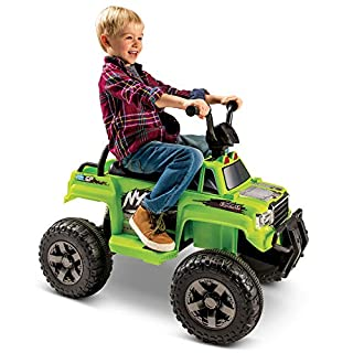 Huffy 12V Nytro Quad Battery Powered Ride On with Walkie Talkies, Green (17248)