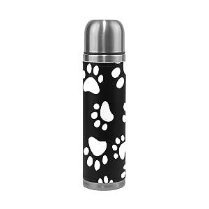 Bennigiry cane gatto zampa thermos a doppia parete in acciaio INOX caffè bottiglia thermos isolante 481,9gram
