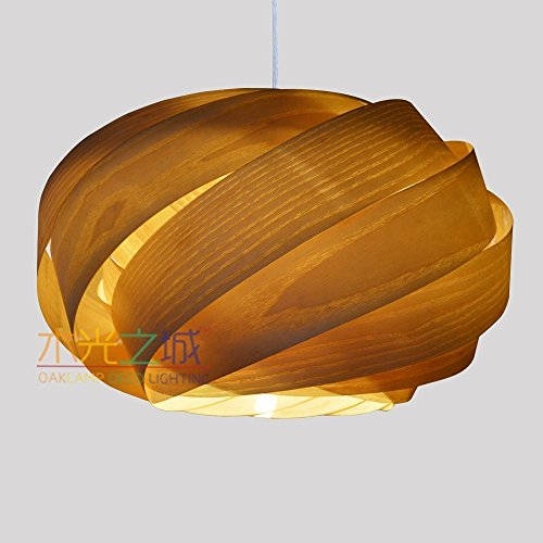 Handmade Nest Hanging 1-Light Pendant Light M,made of real Amerian ash veneer, a beautiful pendant for dining room and bedroom -unique design-pendant …