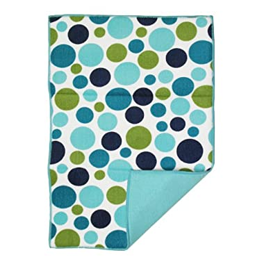 Ritz Polka Dot Reversible Microfiber Dish Drying Mat, Ocean