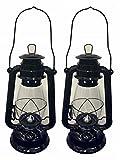 Shop4Omni Black Hurricane Kerosene Lantern Wedding Hanging Light Camping Lamp - 12'' (2)