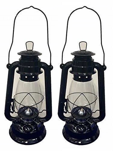 Shop4Omni Black Hurricane Kerosene Lantern Wedding Hanging Light Camping Lamp - 12