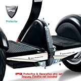 For Segway MiniPRO Dashboard & Front Light Protection Set Invisible Protector Ultra HD Clear Film Anti Scratch Skin Guard - Smooth / Self-Healing / Bubble -Free By IPG (Clear + Silver Chrome)