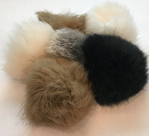 Barker Brands Inc. Real Fur Balls Natural Cat Toy 6 Pack
