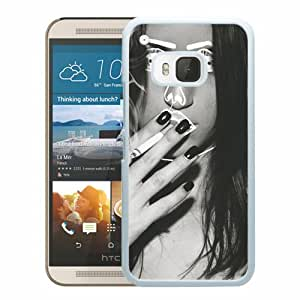 Unique HTC ONE M9 Disclosure Face Girl Smoking Black And White White Screen Phone Case Luxury and Cool Design
