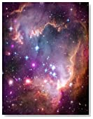 Under the wing of the small magellanic cloud. Graph paper journal: 160 pages, 0,5 inch squares, format 8.5 x 11 inch, diary, composition book, notebook. Soft cover.