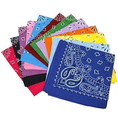 lor Classic Paisley Bandana Head Wrap Scarves Set ()