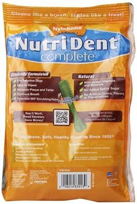 Nylabone Nutri Dent Petite Peanut Butter Flavored Dental Bone Grain Free Dog Treats, 24 Count