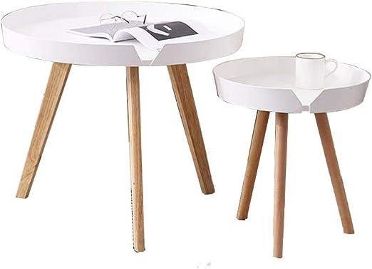 Xiaolin Mesas auxiliares de café anidadas Mesa Redonda Moderna de ...