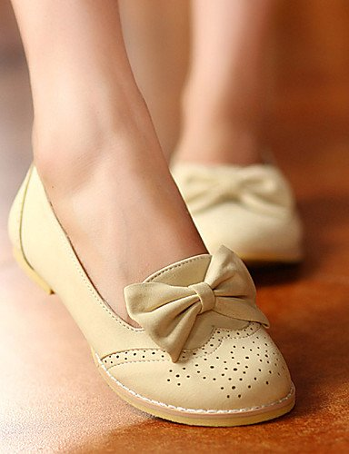 uk4 Casual de zapatos us6 5 mujer rosa Flats Beige pink sintética redonda 7 cn37 5 de plano eu37 piel talón punta 5 azul PDX PdRqP