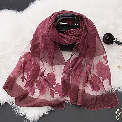 HGTYU-Les Pivoines coupées foulard soie Dentelle et couture à double usage polyvalent 200*80cm